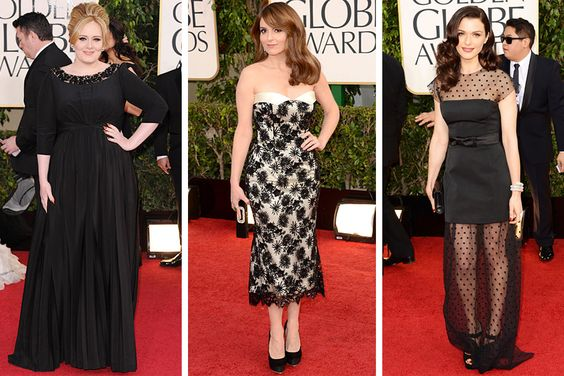 Adele, Tina Fey, Rachel Weisz atThe Golden Globes