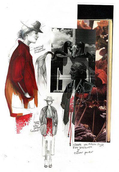 Fashion Sketchbook - gathering inspiration & fashion design drawings // Evelina Romano
