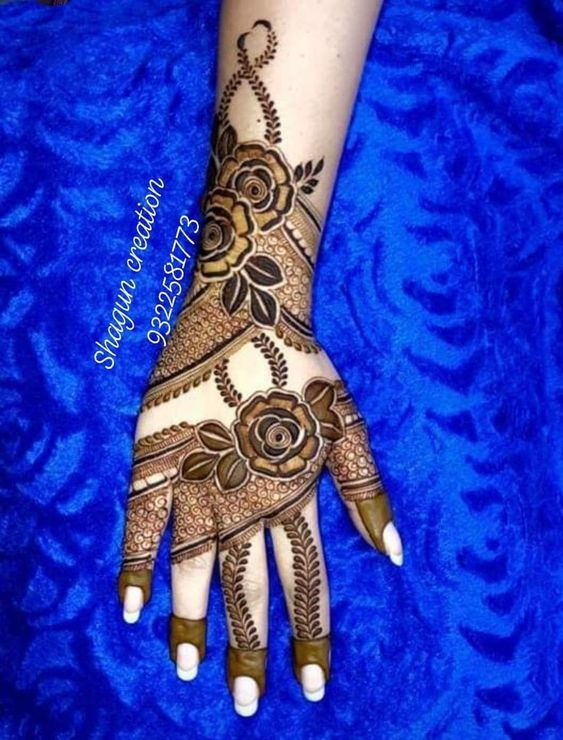 50 Most Attractive Rose Mehndi Designs To Try Wedandbeyond Rose Mehndi Designs Dulhan Mehndi Designs Mehndi Designs