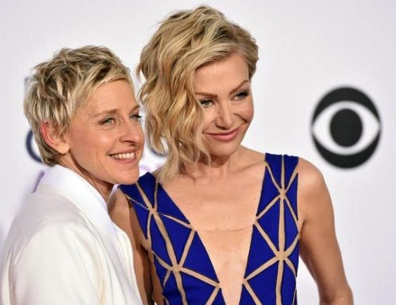 Ellen DeGeneres, left, and Portia de Rossi arrive at the People's Choice Awards at the Nokia Theatre on Wednesday, Jan. 7, 2015, in Los Angeles. (Photo by John Shearer/Invision/AP) Credit John Shearer/Invision/AP