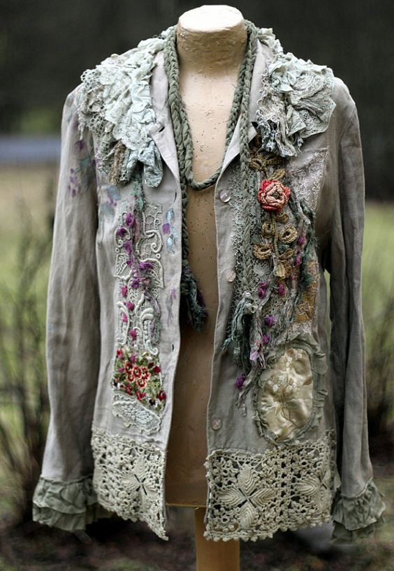 memoirs extravagant reworked vintage linen by