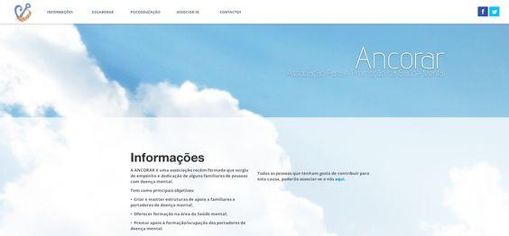 Associação Ancorar A Ancorar é uma entidade Açoriana, cujo objectivo é a Promoção da Saúde Mental. Desenvolvemos um site com uma navegação muito simplificada e um design com uma temática super agradável.