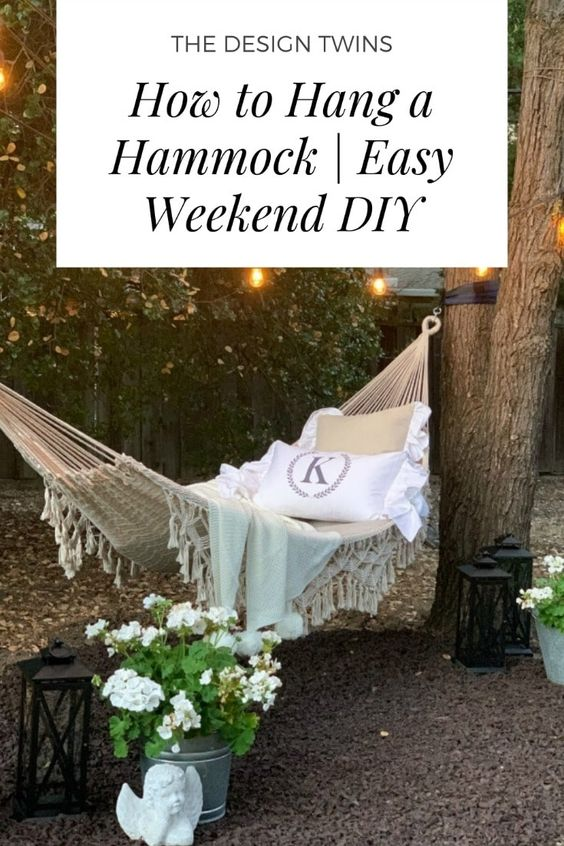 How To Hang A Hammock Easy Weekend Diy In 2020 Diy Hammock Easy Weekend Projects Weekend Projects