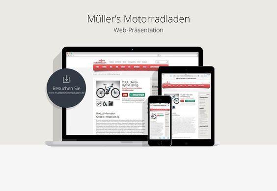 Müller's Motorradladen Web Präsentation