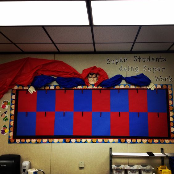 Classroom Ideas Superheroes ~ Superman and bulletin boards on pinterest