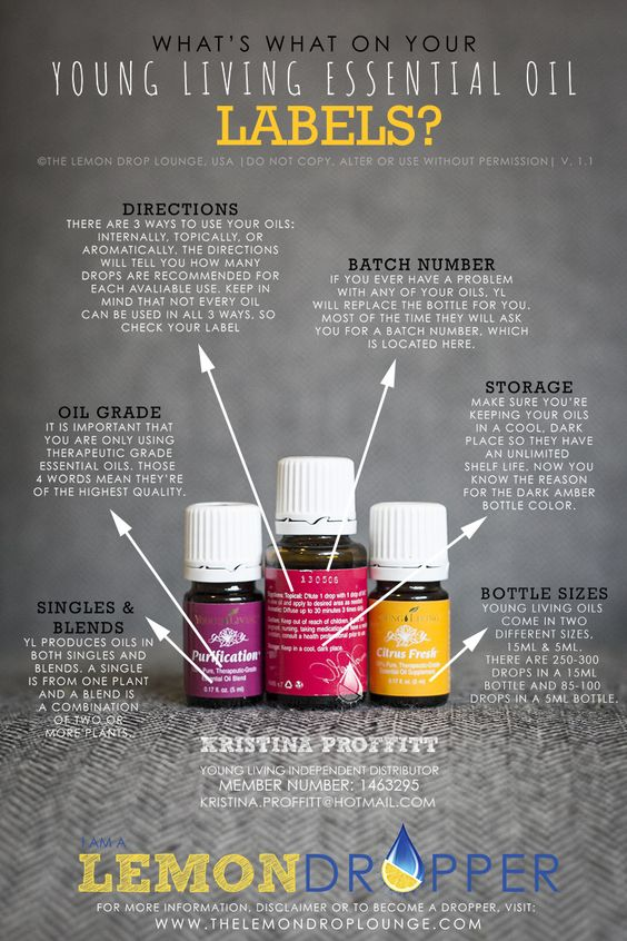Young Living Essential Oils - What the labels say & mean
