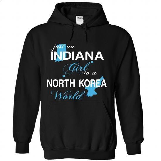 WorldBlue Indiana-North Korea Girl - #plain black hoodie #movie t shirts. BUY NOW => https://www.sunfrog.com//WorldBlue-Indiana-North-Korea-Girl-9580-Black-Hoodie.html?id=60505