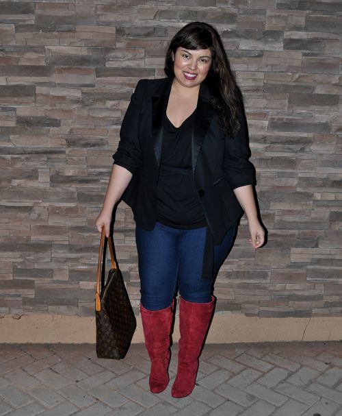 Who says bigger girls can't wear skinny jeans? Plus size can look ...