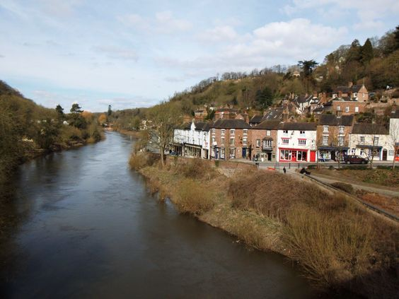 The river Severn passing through the Severn Gorge. A view from the worlds first bridge constructed of Iron.