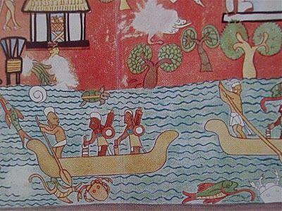 Pintura mural de chich n itz been here aqui estuve for Aztec mural tattoos