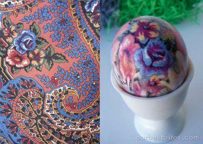 Amazing!  DIY dyed Easter eggs using silk ties!