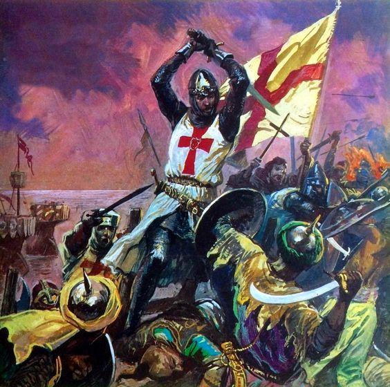 King Richard the Lionheart battling the Saracens ...
