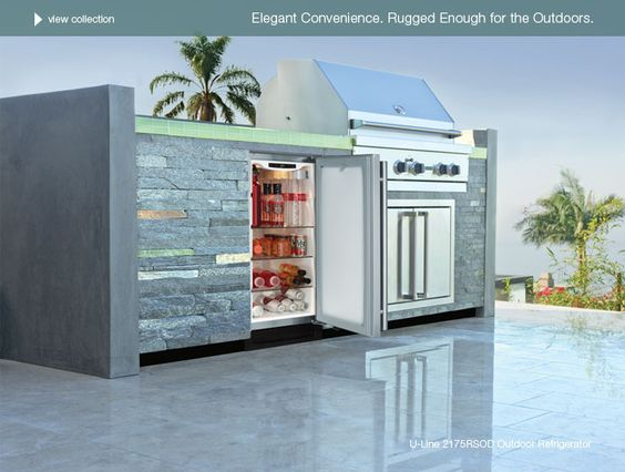 Outdoor fridge.  Perfect for me and hubby!