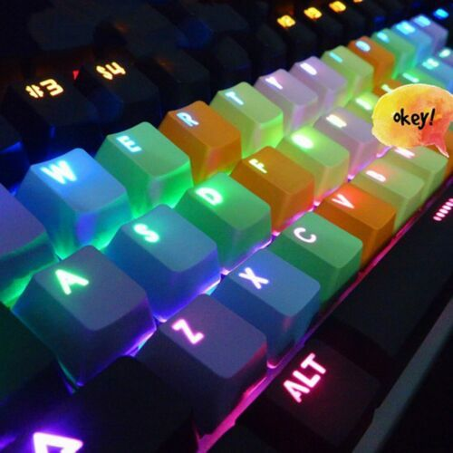 TaiHao Rubber Backlit Gaming Keycap Set Doubleshot Keycaps Cherry MX Suitable