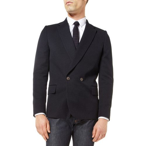 Paul Smith Double Breasted Pique Blazer