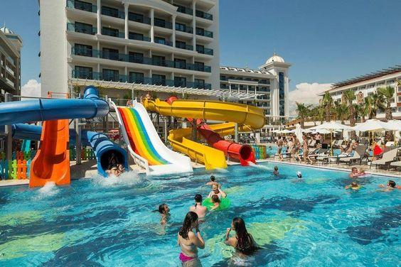 Otel La Grande Resort Spa Raspolozhen V Antalii V Rajone Kumkej V 7 Km Ot Antichnogo Goroda Side Svoej Sovremennoj Arhitekturoj S Oteli Antalya Bassejn