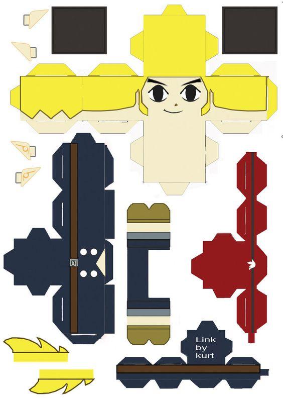 the legend of zelda 3d 8 bit compass free papercraft download foldable stuff pinterest