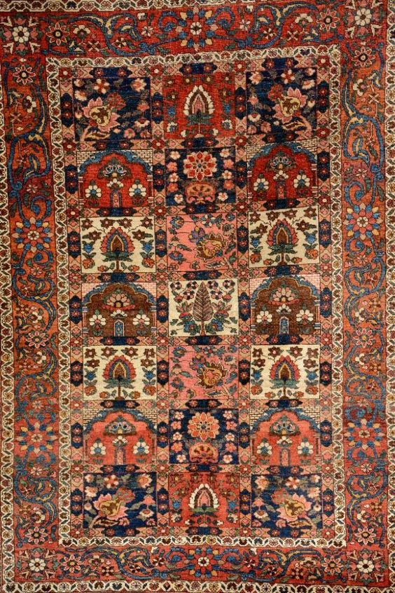 Bachtiar alt, Persien, ca. 60 Jahre, Wolle auf Baumwolle, ca. 204 x 140 cm, EHZ: 3-4 —