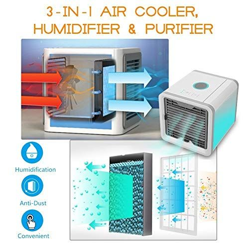 Kanthi Arctic Air Portable 3 In 1 Conditioner Humidifier Purifier