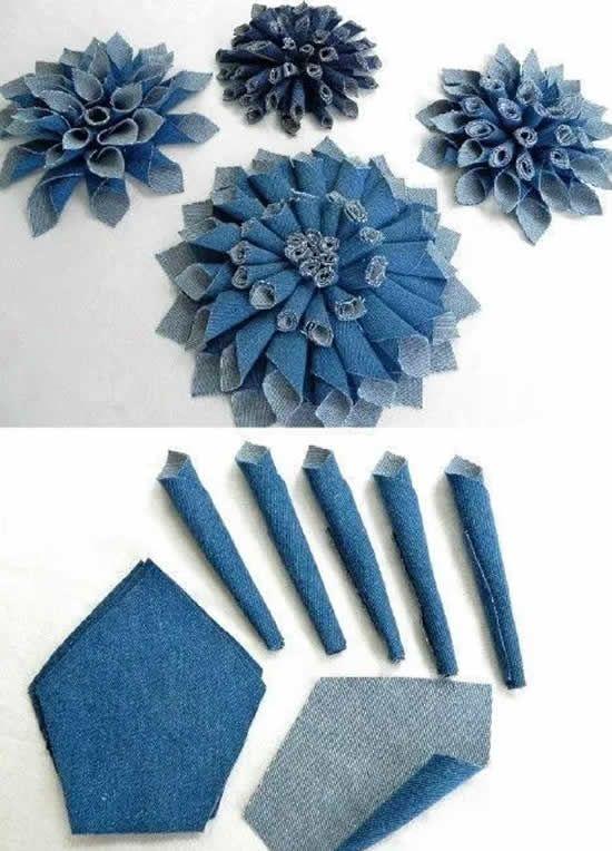 12 Idéias para reciclar jeans | Saco de garrafa, Denim