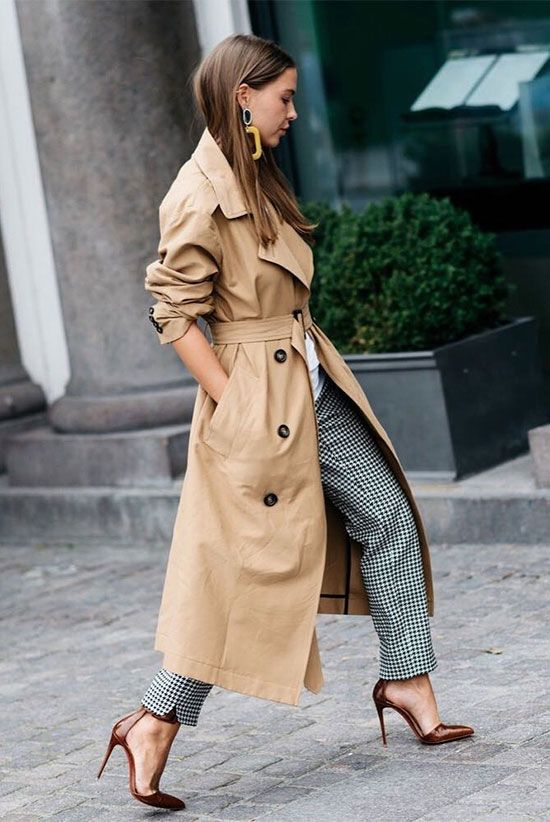 A classic trench coat