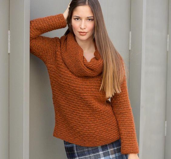 оранжевая накидка схема вязания спицами из журнала сабрина 2014