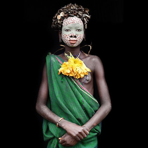 Nashta - young suri kid well decorated / lower omo valley by abgefahren2004