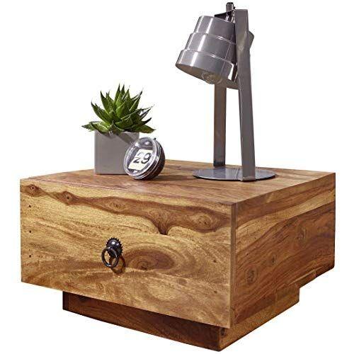 Nachtschrank Nachttisch Beistellschrank Schubladen Tisch Holz Shabby Braun