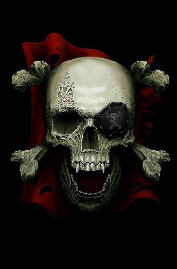 頭蓋骨の部分が大きいドクロマーク