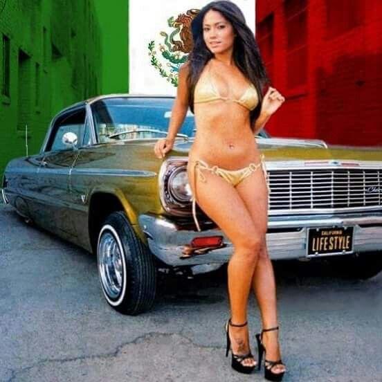 Latinas ass with lowriders