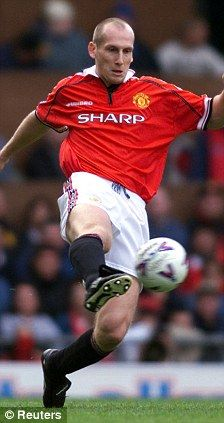 Defensive rock: Jaap Stam of Manchester United