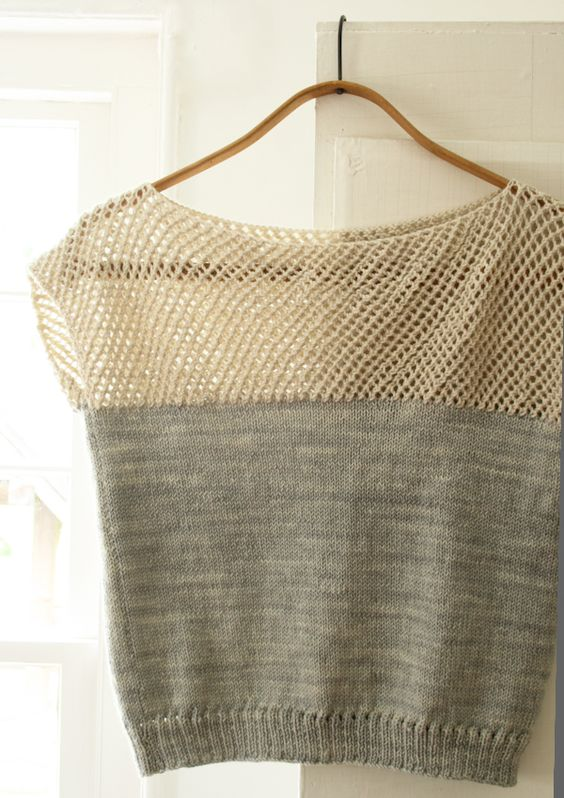 Latest project. Isn't this pretty?: Knitting Projects, Knitting Crochet, Cap Sleeves, Knitting Pattern, Lattice Top, Summer Top