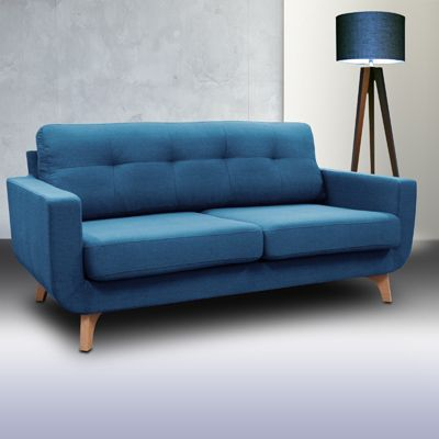 canap en tissu 2 5 places palermo bleu canard vue 1 sofa pinterest places. Black Bedroom Furniture Sets. Home Design Ideas