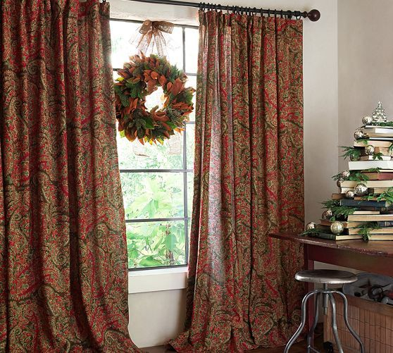 Carrie Paisley Drape | Pottery Barn $230 For Two Panels   Living .