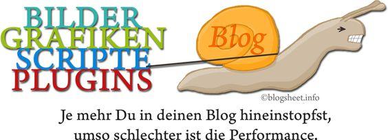 Viel ist nicht immer gut - Je mehr Du in deinen Blog hineinstopfst, wie allerlei Plugins, Scripte oder Bilder und Grafiken, umso mehr leidet die Performance.