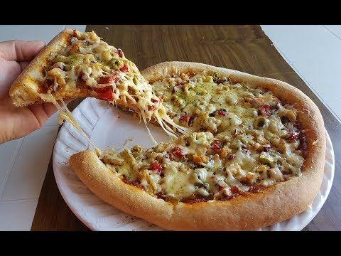 وداعا للكسل 10دقائق كافية لتحضير بيتزا هت بعجينة سحرية هشه بدون دلك وحشوة رائعة جدا والنتيجة خيال Youtube Food Food And Drink Vegetable Pizza