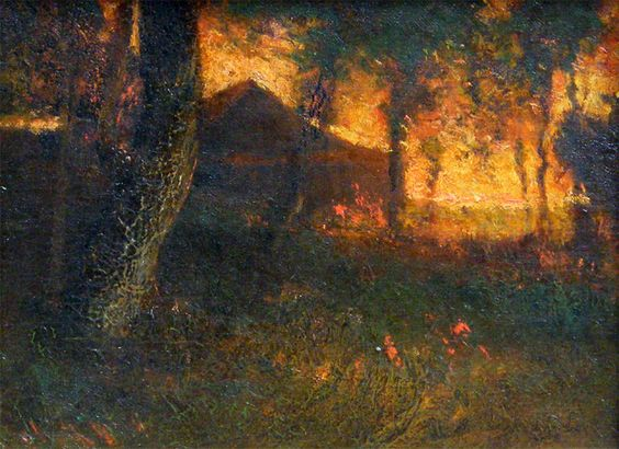 Le Prince Lointain: Elliott Daingerfield (1859-1932), Old Barn at Suns...