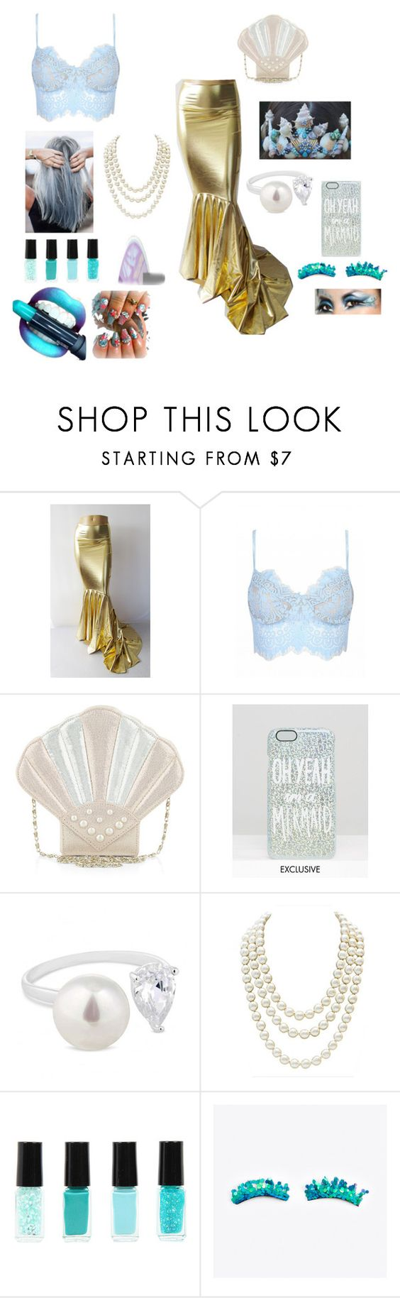 """""""It's not easy being a mermaid"""" by mrslexluthorloki on Polyvore featuring Monsoon, Paperchase, Simply Silver, Chanel and tarte"""
