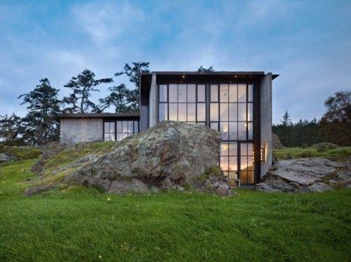 stone: Favorite Places Spaces, Kundig Architects, House Ideas, Dream House, Dream Home, San Juan Islands, Favorite Architecture Spaces