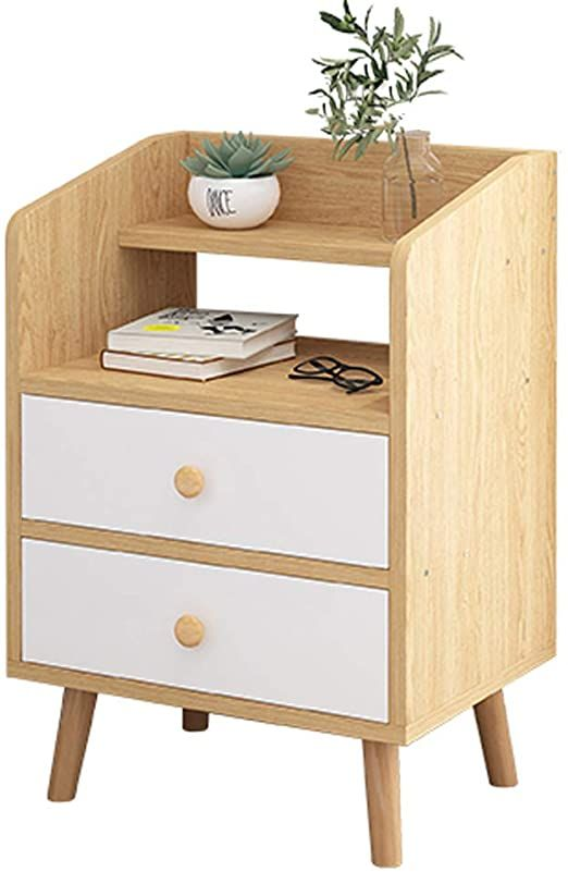 Ktol Modern 23 6 Rdquo Nightstand Open Shelf Bedside Table 4 Table Legs 2 Cabinet Sofa Side End Table In 2020 Bedside Furniture Space Saving Furniture Open Shelving