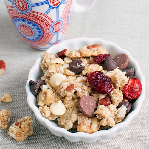 Cookie dough granola not 100% clean recipe but its too good not to repin:)