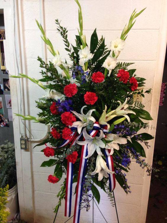 Sympathy Funeral Flowers w FlowerBell Reno Florist ... |Military Funeral Flag Flowers