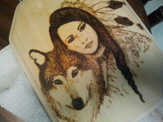 Indian Woman Wood Burning Patterns Google Search