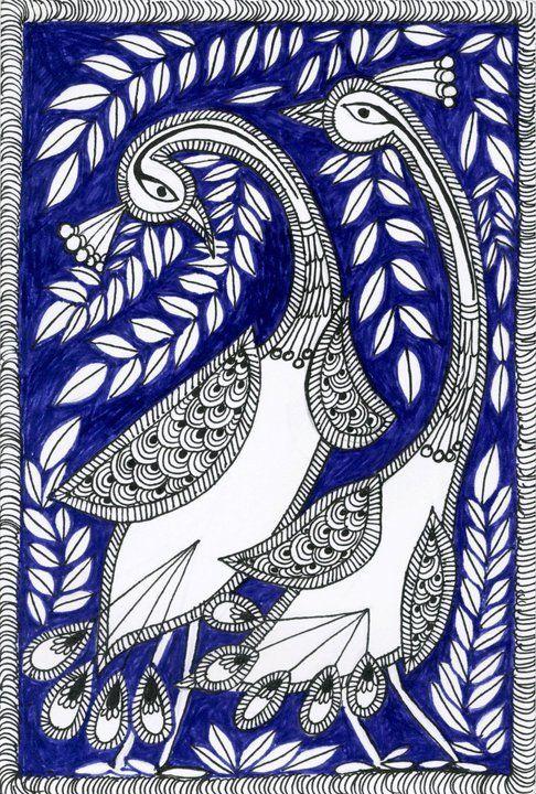 Inspired by madhubani by Aparajita Barai, via Behance
