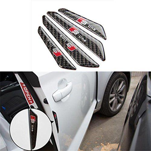 Auto P 4pcs Car Anti Collision Strips Door Side Edge Protector Guards Sticker For Audi Sline S Line A3 A4 A6 A7 A8 B6 S3 S4 S5 R Edge Protectors Protector Audi