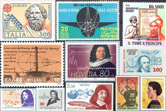 El profesor de matemáticas Jeff Miller tiene en su web esta espectacular colección de Imágenes de grandes matemáticos en sellos de correos, acompañados de muchas de sus fórmulas y diagramas geométricos. La página en sí no es gran cosa visualmente, muy...
