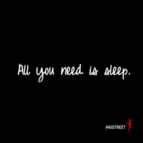 Right?   #40st #40STREET #sleep
