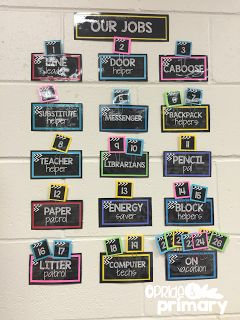 Editable Classroom Supply labels, jobs, binder covers, center signs, etc. with a Chalkboard Theme!