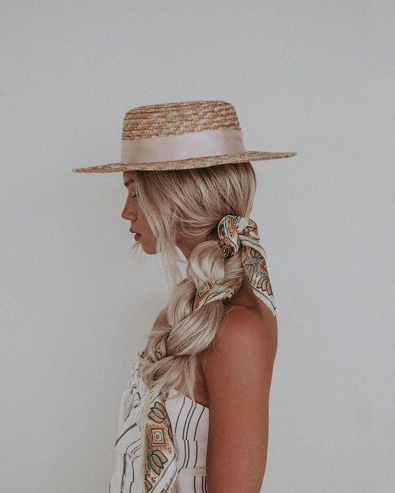 Pretty big braid hairstyle , braids , half up half down hair ,partial updo #hairsytle #hair #braids