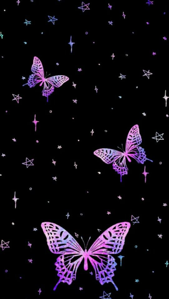 Black And Purple Butterfly Wallpaper Iphone Butterfly Background Iphone Background Purple
